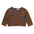 Oeuf Baby And Child Double Raglan Sweater Hazelnut Brown With Blue Dots