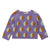 Oeuf Baby And Child Double Raglan Sweater Lilac Purple With Dots