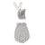 Oeuf Baby Two Piece Bunny Set Grey