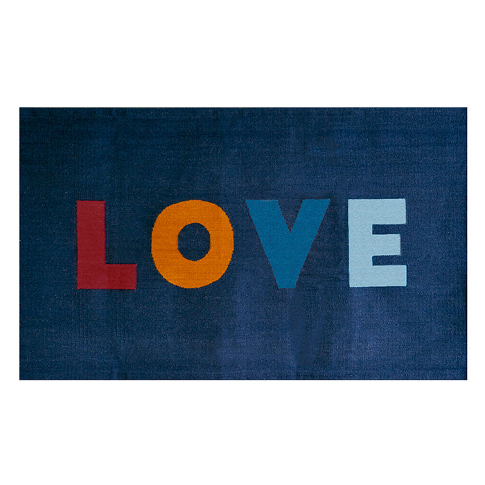 Oeuf Love Rug Navy Blue 4' x 6'
