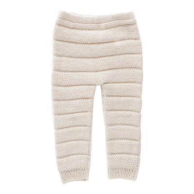 Oeuf Baby Pants With Knitted Stripes White