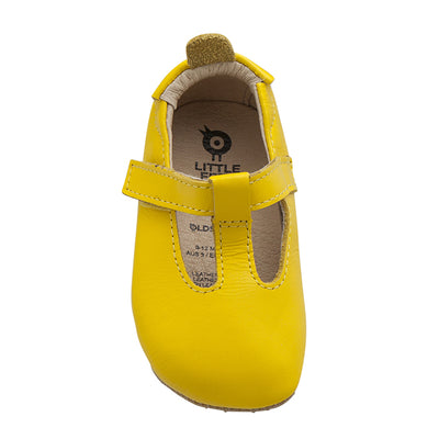Old Soles Baby Omhe Bub Mary Jane Shoes Sunflower Yellow