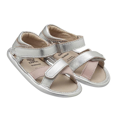 Old Soles Baby Floss Sandals Silver And Powder Pink