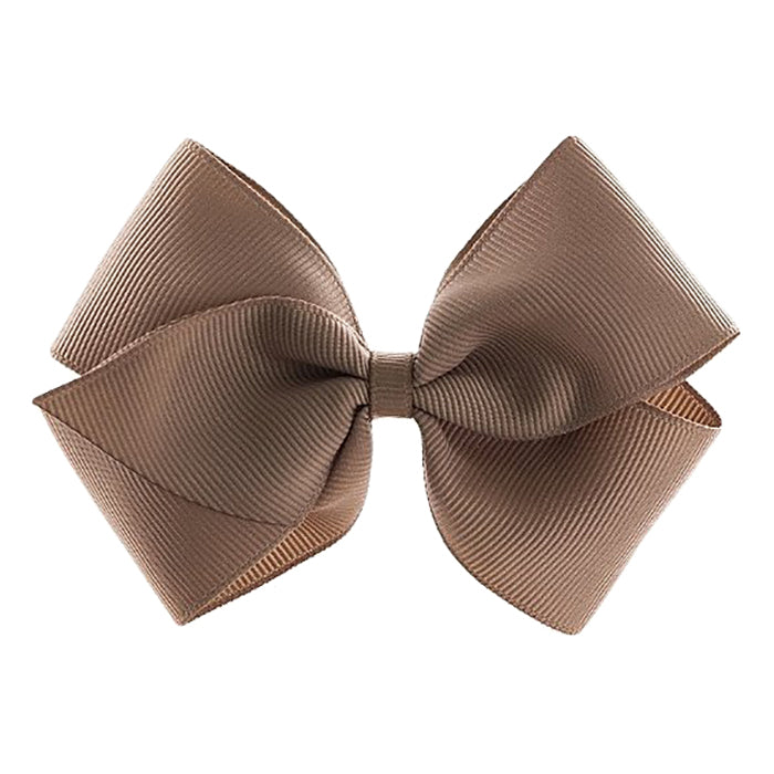 Olilia Hair Clip Large London Bow Fossil Brown