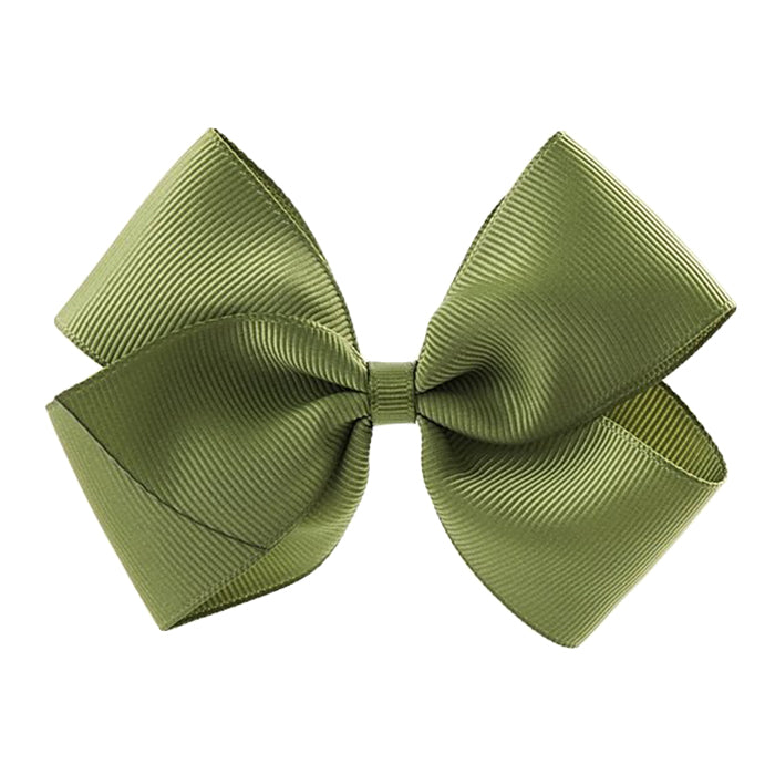 Olilia Hair Clip Large London Bow Willow Green