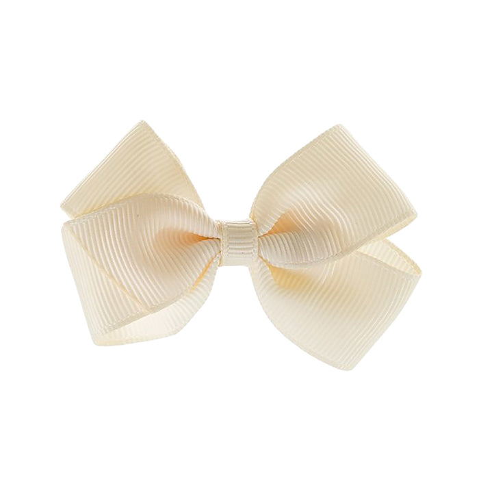 Olilia Hair Clip Small London Bow Ivory Cream