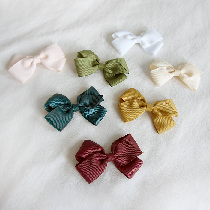 Olilia Hair Clip Small London Bow Willow Green