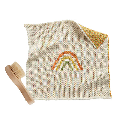 Olli Ella Dinkum Doll Accessories Brush + Rainbow Blanket Set
