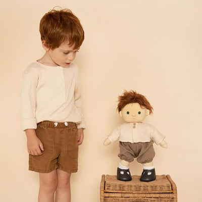Olli Ella Dinkum Doll Travel Togs Rust Brown