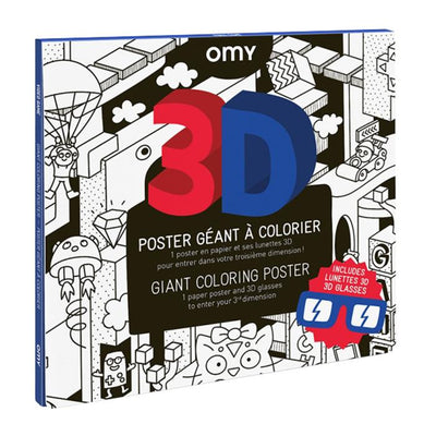 Omy Folded Colouring Poster 3D Video Game