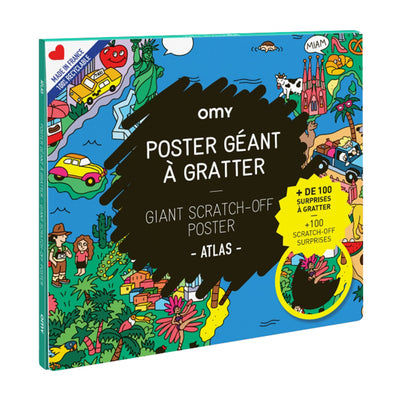 Omy Scratch Off Poster Atlas