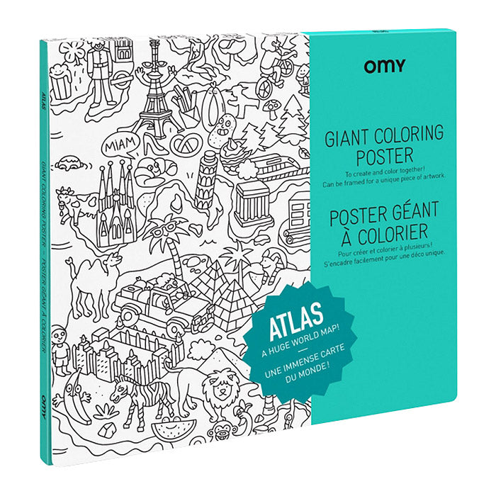 Omy Folded Colouring Poster Atlas