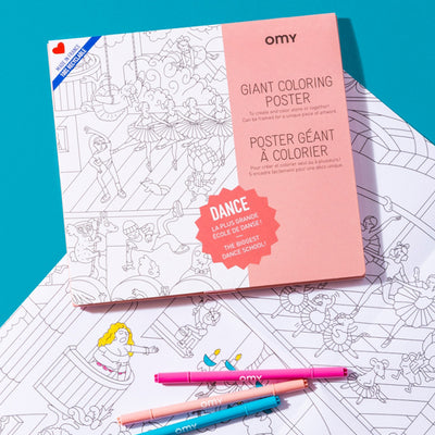 Omy Folded Colouring Poster Dance