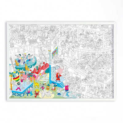 Omy Folded Colouring Poster Music