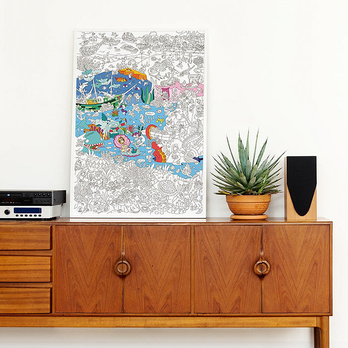 Omy Folded Colouring Poster Ocean