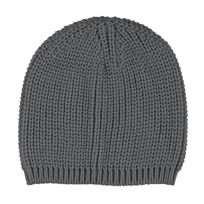 Pequeno Tocon Baby Chunky Knit Hat Dark Grey