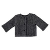 Pequeno Tocon Baby Spike Crinkled Wool Jacket Dark Grey