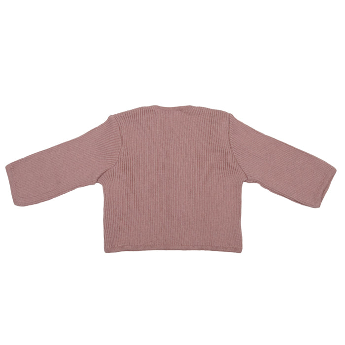 Pequeno Tocon Baby Ribbed Knit Cardigan Sweater Pink