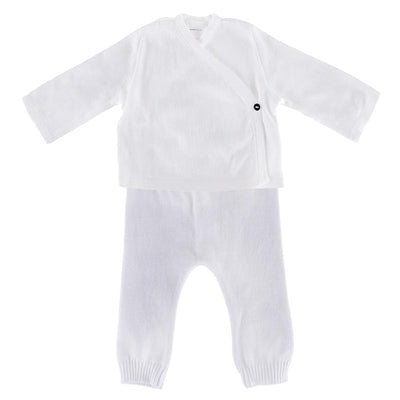 Pequeno Tocon Baby Two Piece Set White