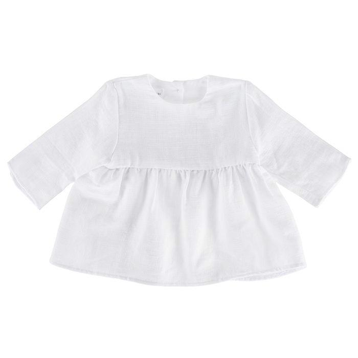 Pequeno Tocon Baby Long Sleeved Dress White