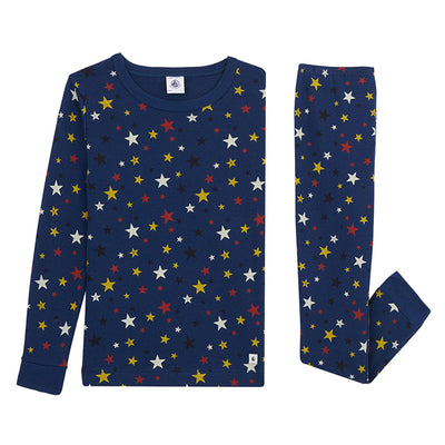 Petit Bateau Child Laureat Pyjamas Blue Star Print