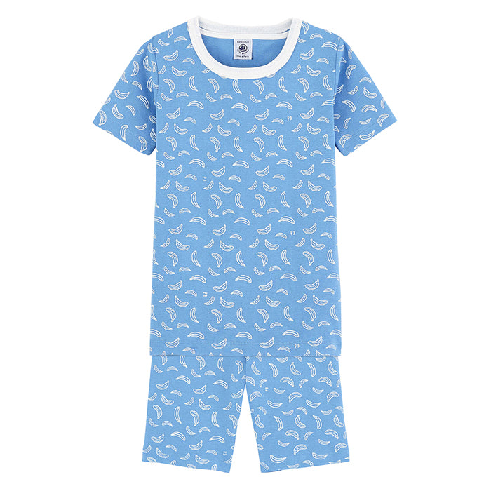 Petit Bateau Child Master Pyjamas Blue Banana Print