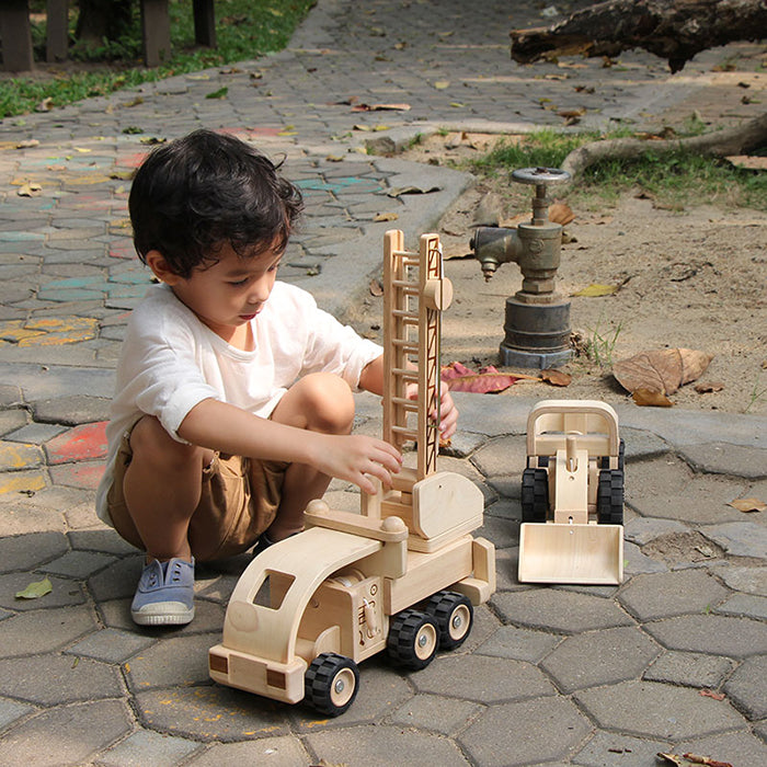 Plan Toys Wooden Fire Truck