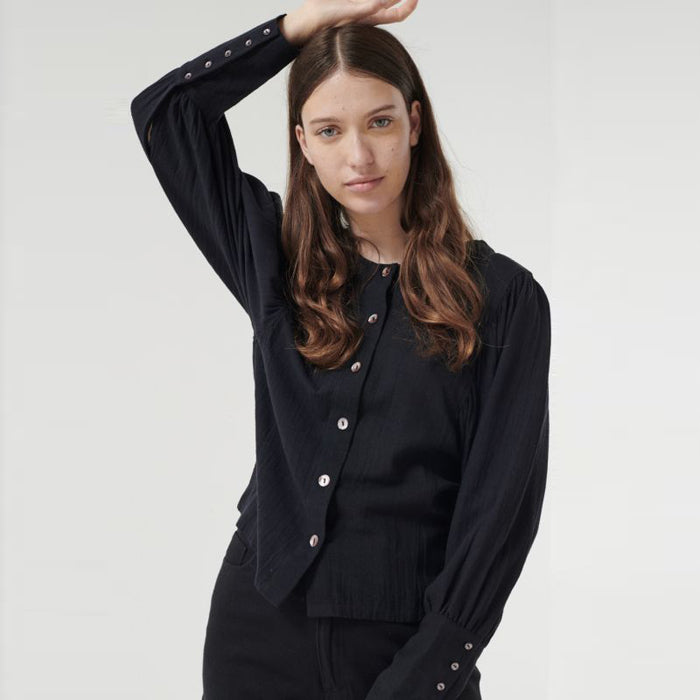 Polder Woman Berta Long Sleeved Shirt Black