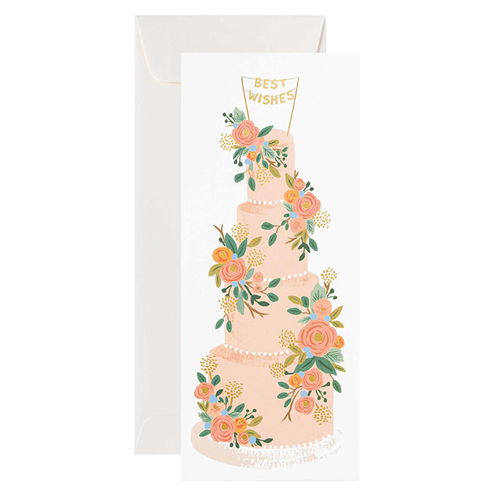 Rifle Paper Co. Tall Wedding Cake No. 10 Card