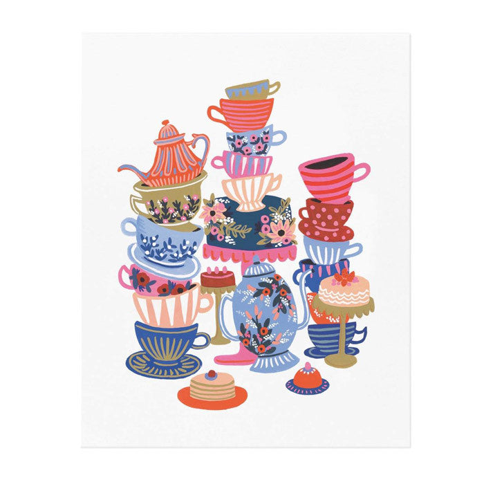 Rifle Paper Teacups Print (8x10)