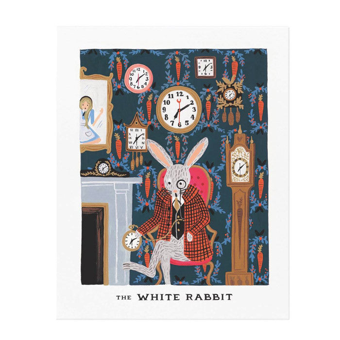Rifle Paper White Rabbit Print (8x10)