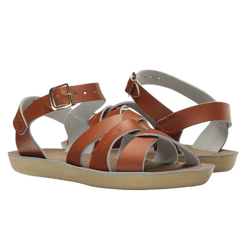 Salt Water Child Swimmer Sandals Tan Brown