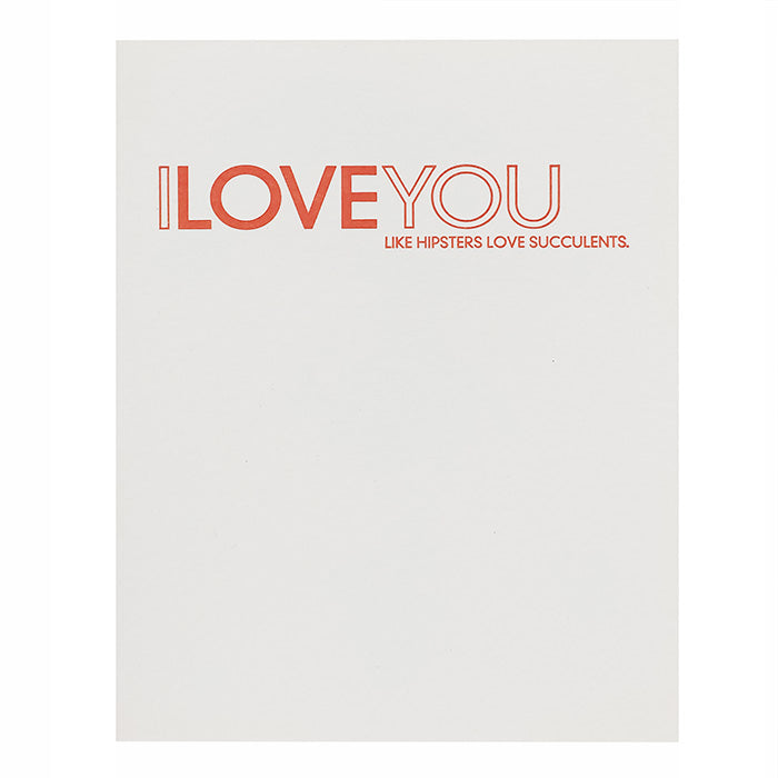 Sapling Press I Love You Card