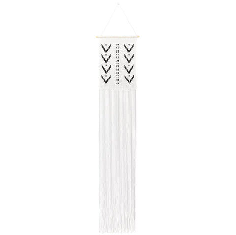 Sidai Designs Dotted V Wall Hanging Long Black And White