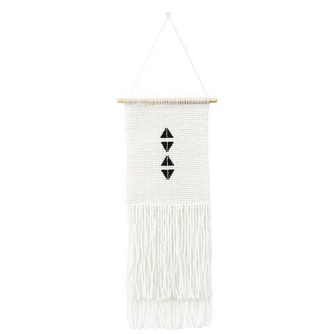 Sidai Designs Four Triangle Wall Hanging Small Black And White