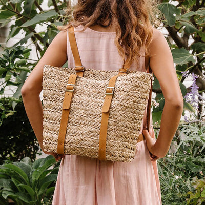 Olli Ella Soukie Seagrass Backpack