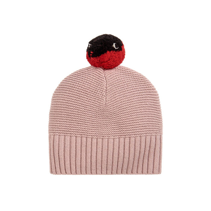 Stella McCartney Baby Ferret Knit Hat With Pompom Pink