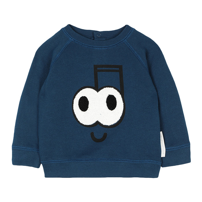 Stella McCartney Baby Sweatshirt With Music Note Print Navy Blue