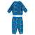 Stella McCartney Baby Sweatsuit Set With All Over Happy Notes Print Blue