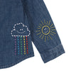 Stella McCartney Baby Shirt With Weather Embroidery Blue