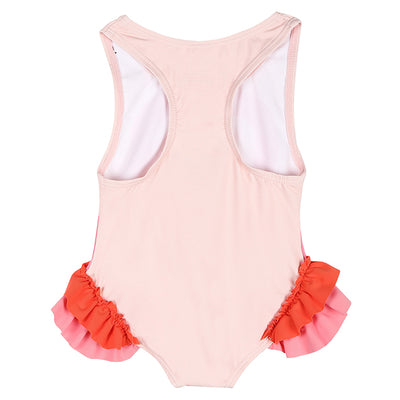 Stella McCartney Baby Flamingo Swimsuit With Frills Pink