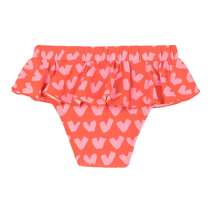 Stella McCartney Baby Swim Bottoms With Heart Print Red