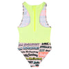 Stella McCartney Child Swimsuit With Logo Print Multicolour