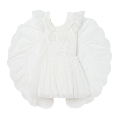Stella McCartney Child Tulle Dress With Butterfly Patch White