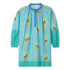 Stella McCartney Child Dress With Palm Tree Print Blue