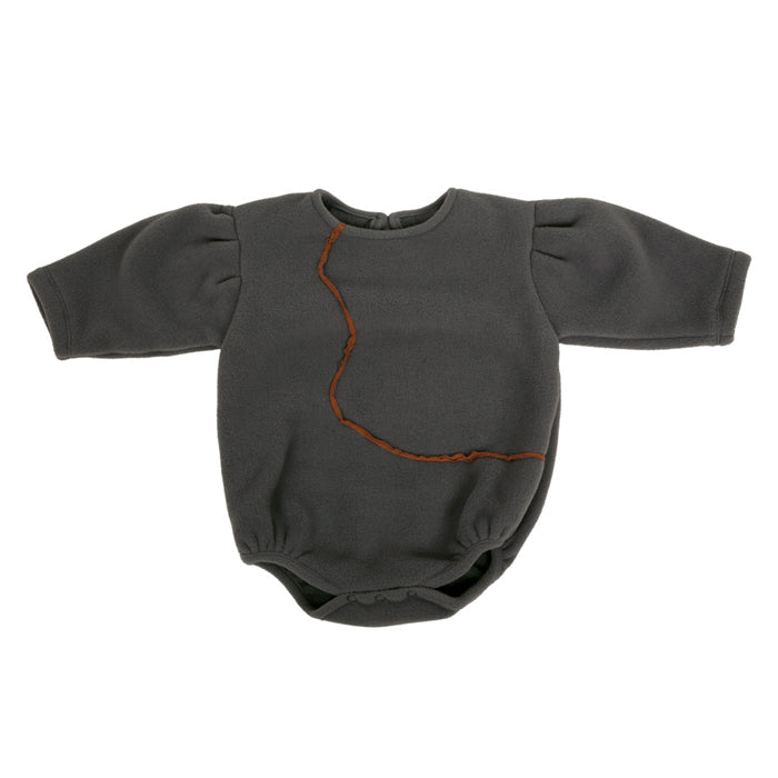 Tambere Baby Fleece Bodysuit Charcoal Grey