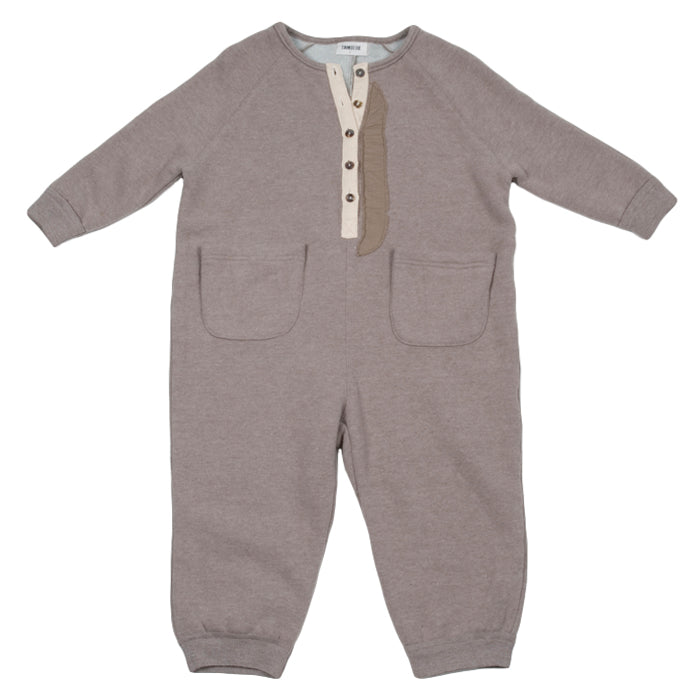Tambere Child Jumpsuit With Pockets Khaki Beige