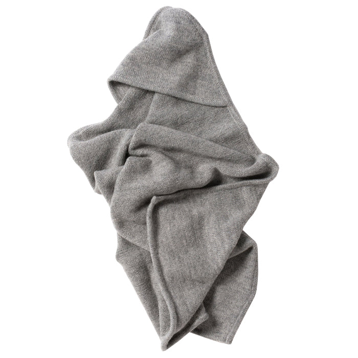 Tane Organics Blanket With Hood Frost Grey