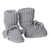 Tane Organics Sock Booties with Ties Graphite Grey