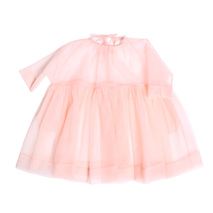 Tia Cibani Kids Child Tulle Layering Dress Flamingo Pink